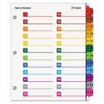 OneStep Printable Table of Contents/Dividers, 8-1/2 x 11, 52 Dividers (CRD60990)
