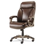 Alera Executive High-Back Leather Chair, w/ Cushioning, Brown (ALEVN4159)