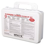 Impact Bloodborne Pathogen Cleanup Kit, OSHA Compliant, Plastic Case (IMP7351)