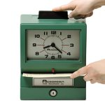 Acroprint 125 Analog Manual Print Time Clock with Date (ACP011070400)