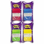 Post-it Durable File Tabs, Red, Blue, Green, Yellow, 100 Tabs (MMM686RALY)