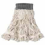 Rubbermaid Wet Mops, Cotton/Synthetic, White, Medium, 6 Mops (RCPA152WHI)