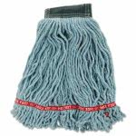 Rubbermaid Wet Mop Heads, Shrinkless, Green, Medium, 6 Mops (RCPA252GRE)