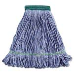 Boardwalk Super Loop Wet Mop Head, Cotton/Synthetic, Medium, Blue (BWK502BLEA)