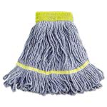 Boardwalk Super Loop Wet Mop Heads, Small, Blue, 12 Mops (BWK501BL)