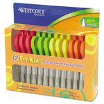westcott-kids-scissors-5-pointed-pack-of-12-assorted-acm13141