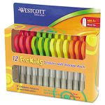westcott-kids-scissors-5-blunt-pack-of-12-assorted-acm13140