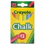 Crayola Chalk, Assorted Colors, Nontoxic, 12 Sticks (CYO510816)