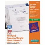 avery-top-load-recycled-sheet-protector-semi-clear-100-per-box-ave75537