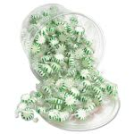Office Snax Starlight Mints, Spearmint Hard Candy, Wrapped, 2lb Tub (OFX70005)