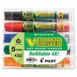pilot-begreen-dry-erase-whiteboard-markers-chisel-5-assorted-colors-pil43917