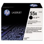 HP 55X, (CE255X) High Yield Black Original LaserJet Toner Cartridge (HEWCE255X)