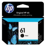 HP 61, (CH561WN) Black Original Ink Cartridge, 1 Each (HEWCH561WN)