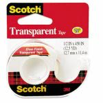 "Scotch Transparent Tape in Hand Dispenser, 1/2"" x 450"", Clear (MMM144)"