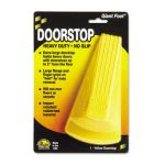 Master Caster Giant Foot Doorstop, No-Slip Rubber Wedge, Yellow (MAS00966)