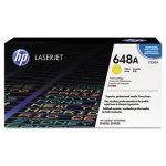 HP 648A, (CE262A) Yellow Original LaserJet Toner Cartridge (HEWCE262A)