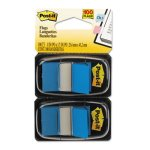 Post-it Flags Standard Tape Flags in Dispenser, Blue, 100 Flags (MMM680BE2)
