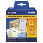 "Brother Die-Cut Multipurpose Labels, .66"" x 2.1"", White, 400/Roll (BRTDK1204)"