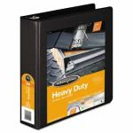"Wilson Jones Heavy-Duty D-Ring Vinyl View Binder, 2"" Capacity, Black (WLJ38544B)"