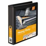 "Wilson Jones Heavy-Duty D-Ring Vinyl Binder, 1-1/2"" Capacity, Black (WLJ38534B)"