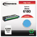 Innovera 6180C Remanufactured, (Phaser 6180) Toner, 6000 Yield, Cyan (IVR6180C)