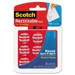 scotch-restickable-mounting-tabs-78-x-78-clear-18pack-mmmr105
