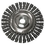 "Anchor Brand String Bead Wheel Brush, 4"" Dia, Steel, .02 Wire (ANR4S58)"