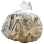 30 Gallon Clear Trash Bags, 30x37, 8mic, 500 Bags (IBSS303708N)