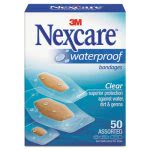 3m Nexcare Waterproof Bandages, Assorted Sizes, 50 per Box (MMM43250)