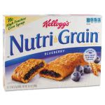 Kellogg's Nutri-Grain Cereal Bars, Blueberry, Indv Wrapped 1.3oz Bar, 16 Bars/Box (KEB35745)