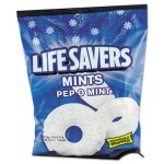 Lifesavers Hard Candy, Pep-O-Mint Flavor, Wrapped, 6.25oz Bag (MRS08503)