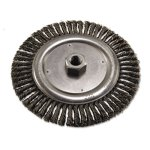 "Anchor Brand String Bead Wheel Brush, 7"" Dia, Steel, .02 Wire (ANR7S58)"