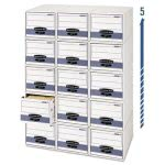 Bankers Steel Drawer Plus Storage Box, Letter, White/Blue, 6/Carton (FEL00311)