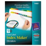 Avery Index Maker Dividers, Multicolor 12-Tab, Letter, 5 Sets/Pack (AVE11405)