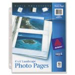 Avery Photo Pages for 4 - 4 x 6 Photos, 3-Hole Punch, 10 per Pack (AVE13406)
