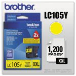 Brother LC105Y, Super High-Yield Ink, 1200 Page-Yield, Yellow (BRTLC105Y)