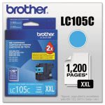 Brother LC105C, LC-105C, Super High-Yield Ink, 1200 Page-Yield, Cyan (BRTLC105C)
