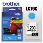 Brother LC79C (LC-79C) Super High-Yield Ink, 1,200 Page-Yield, Cyan (BRTLC79C)