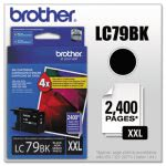 Brother (LC-79BK) Super High-Yield Ink, 2,400 Page-Yield, Black (BRTLC79BK)