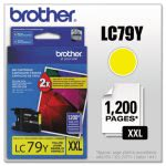 Brother LC79Y (LC-79Y) Super High-Yield Ink, 1,200 Page-Yield, Yellow (BRTLC79Y)