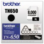 Brother TN650 High-Yield Toner, 8000 Page-Yield, Black (BRTTN650)