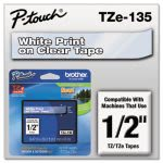 brother-p-touch-tze-standard-laminated-labeling-tape-white-on-clear-brttze135