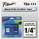 brother-p-touch-tze-adhesive-labeling-tape-14-black-on-clear-brttze111