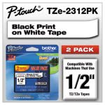 brother-p-touch-adhesive-labeling-tapes-black-on-white-2pack-brttze2312pk