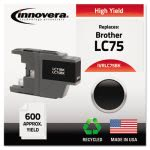 Innovera Compatible Remanufactured High-Yield LC75B Ink, Black (IVRLC75BK)