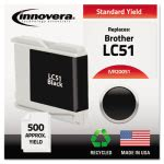 Innovera 20051 Compatible, Remanufactured, LC51BK Ink, Black (IVR20051)