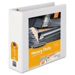 "Wilson Jones Heavy-Duty D-Ring Vinyl View Binder, 3"" Capacity, White (WLJ38549W)"