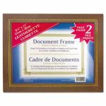 nudell-leatherette-document-frame-8-12-x-11-brown-pack-of-two-nud21203