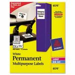 Avery Permanent ID Laser Labels, 1-1/4 x 1-3/4, White, 480/Pack (AVE6570)