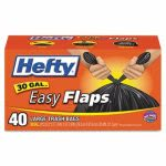 Hefty 30 Gallon Black Garbage Bags, 30x33, 0.85mil, 40 Bags (RFPE27744)